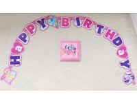 """My Little Pony """"Happy Birthday"""" Banner & Napkins NEW"""