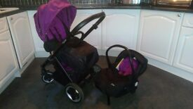 Oyster pram, car seats and accessories