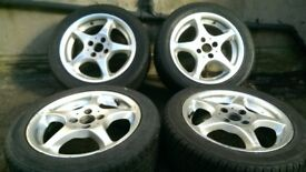 "FOR SALE SSR INTEGRAL A2 15"" 4X100 JAP JDM ALLOYS HONDA MX5 CRX VAUXHALL LOOK CHEAP BARGAIN"
