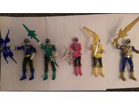 Power ranger figures.