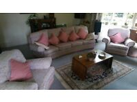 4 seater bow-fronted sofa for sale with matching accessories