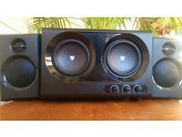 BAZOO MERLIN 2.2 Double Bass Speaker System -Subwoofer Satellite