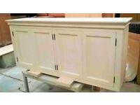 Solid pine kitchen wall cupboard 4 doors