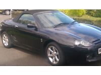 mg tf 2 seater soft top convertible car in black 2005