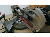 """10"""" sliding mitre saw + new spare blade"""
