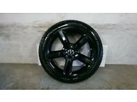 ALLOYS X 4 OF 20 INCH GENUINE AUDI/Q7/S/LINE/FULLY POWDERCOATED IN A STUNNING HIGHGLOSS BLACK NICE