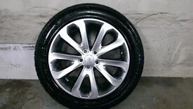 ALLOYS X 4 OF 20 INCH GENUINE RANGEROVER VOUGE FULLY POWDERCOATED IN A STUNNING SHADOW CHROME NICE