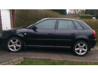 AUDI A3 BLACK 2.0 TDI FULL SERVICE HISTORY, EXCELLENT CONDITION, ROAD TAX AND MOT RECENTLY DONE,