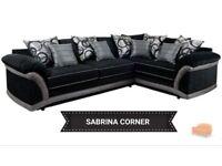 New sabrina black corner sofa**Free delivery**