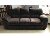 3 and 2 seater sofas with electric reclining chair