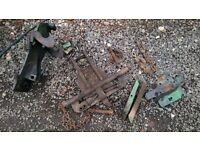 John Deere tractor pick up hitch and plates