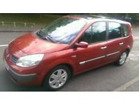 Renault Scenic 1.6, Petrol, Manual, Red, 1 Spare Remote Key, 1 YRS MOT