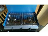Gas two burner with grill caming stöve