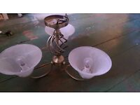 3 arm ceiling light GONE PENDING COLLECTION