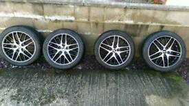 BBBS CS-5 ALLOY WHEELS AND TYRES 17X7.5 5X112 ET46 CB57.1