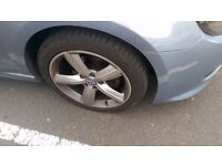 "Audi 17"" alloys with road legal tyres"