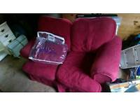 Two seater sofa with spare machine washable covers.