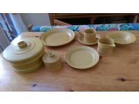 Portmeirion Saffron dinner ware and tea set