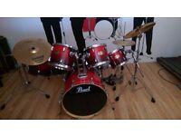 Pearl ELX 7pc Drum Kit - Ruby Fade with DW4000 double bass drum pedal