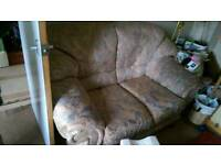 Sofas a 2 seat and 3 seat with foot stool