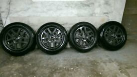 ALLOYS X 4 OF 18 INCH GENUINE DISCOVERY 3 FULLY POWDERCOATED IN A STUNNING ANTHRACITE NICE ALLOYS