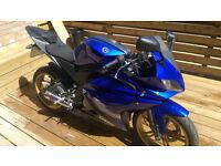 Yamaha YZF R125, full Scorpion racing exhaust, low mileage,