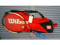 Wilson Hammer 6.4 Carbon Tennis racket / racquet, very powerful, ex demo model with bag