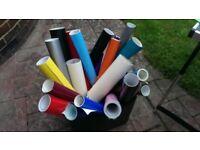 Multiple rolls of Vinyl Sticky Back Plastic for Sign making or crafts