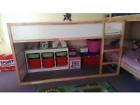 Ikea reversible cabin bed with mattess. Hardly used, good condition.