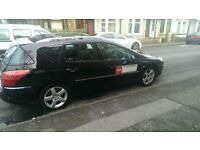 Leeds taxi plated Peugeot 407