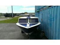 16.8ft, custom built day boat with trailer and Mariner 2.5 auxiliary engine