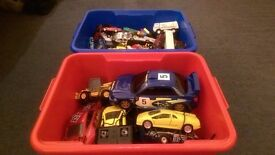 2 Buckets of Car Toys (100+) / RC Rally Car / 5 Hardback Books / Brand New Camera Bag/ FREE DELIVERY