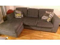 Fabric corner sofa, very good condition, 2 years old