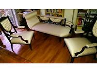 Beautiful Chaise Longue and 2 chairs