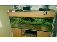 4foot tank and unit good condition