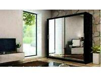 🔵💖🔴BEST DESGN 💖🔴Def Sizes & Colors Berlin 2 Door or 3 Door Sliding Wardrobe / Shelves