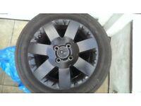 Alloy Wheel's&Tyres 4x108 6Jx15 (195/55/15) Citroen/Peugeot