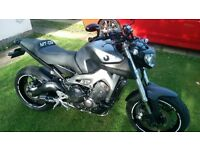 Yamaha MT -09 with extras