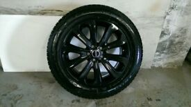 ALLOYS X 4 OF 20 INCH GENUINE RANGEROVER VOGUE FULLY POWDERCOATED IN A STUNNING BLACK SPARKLE NICE