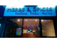 Indian takeaway for sale