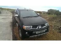 Mitsubishi L200 Animal Black 58/08 Rear Canopy No VAT
