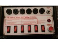 VERY RARE LE MAITRE PYROFLASH 6 WAY PYROTECHNICS SYSTEM ; STAGE EFFECTS CONTROLLER; REDUCED TO £150