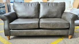 Next Ashford Medium Sofa (3 Seats) Vintaged Faux Leather Dark Grey RRP £950