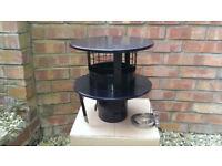 Pot Hanging Chimney Cowl for 5 Inch Flexible Flue (Black)