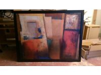 IKEA Canvas Painting with Black Frame