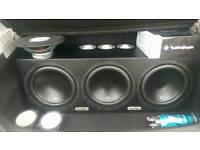 Full car sound system subwoofers amplifier 6X9 door speakers tweeters power cap