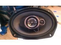 "2 fully working pioneer speakers 6""x9"" coaxial 3 way 500w"