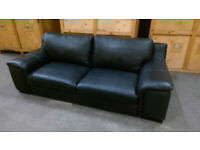 Large 2 seater leather effect sofa in excellent condition