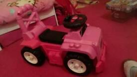 Mega bloks ride on jeep (pink)