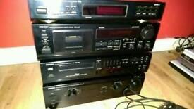 Denon HI-FI detachable 4 set. Cassette, CD player, Radio and Amplifier